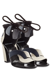 Pierre Hardy Leather And Linen Sandals