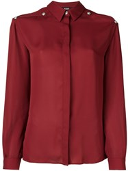 Versus Cut Out Button Down Shirt Red