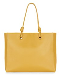Jaeger Leather Knot Oversized Tote Yellow