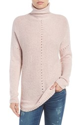 Velvet By Graham And Spencer Women's Open Stitch Funnel Neck Sweater