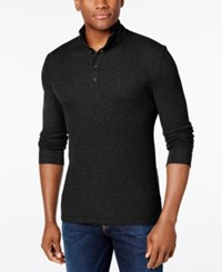 Club Room Men's Three Button Waffle Knit Only At Macy's Deep Black