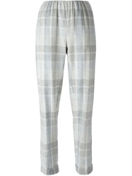 Stephan Schneider Tonal Check Trousers Nude And Neutrals