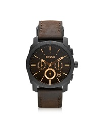 Fossil Machine Mid Size Chronograph Brown Leather Men's Watch