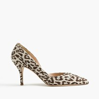 J.Crew Colette D'orsay Pumps In Safari Print Ivory Brown Silver