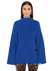 Stella Mccartney Cutout Loose Fit Wool Rib Knit Sweater