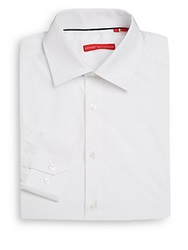 Report Collection Regular Fit Solid Cotton Dress Shirt White