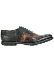 Church's Textured Oxfords Black