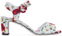 Dolce And Gabbana Multicolor Floral Brocade Heels
