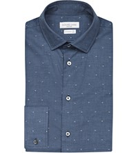 Richard James Polka Dot Cotton Shirt Slate