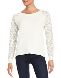 French Connection Leopard Print Sweater White