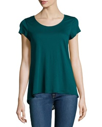Dex Sheer Back High Low Top Green Black