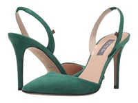 Sarah Jessica Parker Bliss 90 Masters Green Suede Women's Shoes