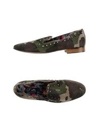 Le Crown Moccasins Military Green