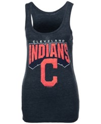 5Th And Ocean Women's Cleveland Indians Big Word Tank Navy