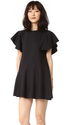 Goen.J Ruffle Sleeve Dress Black