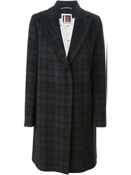 I'm Isola Marras Checked Single Breasted Coat Black