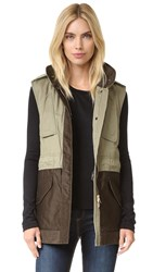 Rag And Bone Kinsley Vest Army Green