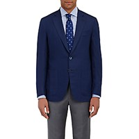 Isaia Men's Lightweight Two Button Sportcoat Navy