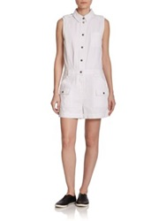 Marc By Marc Jacobs Greenwich Sleeveless Short Jumpsuit White