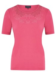 Viyella Petite Cutwork Cotton Top Orchid