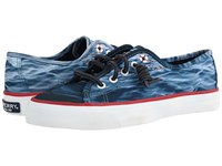 Sperry Jaws Seacoast Sneaker Navy Women's Lace Up Casual Shoes