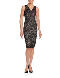 Maggy London Lace Sheath Dress Black