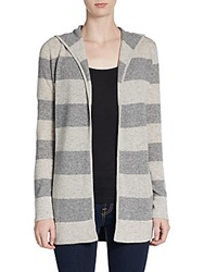 Christopher Fischer Striped Cashmere Hooded Cardigan Spark