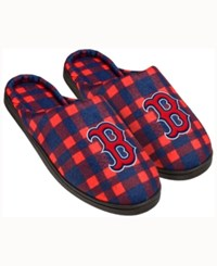 Forever Collectibles Boston Red Sox Flannel Slide Slippers
