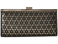 Jessica Mcclintock Laura Perforated Framed Clutch Black Clutch Handbags