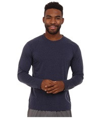 Brooks Distance Long Sleeve Top Heather Navy Men's Long Sleeve Pullover