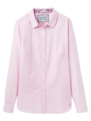 Joules Oxford Semi Fitted Shirt Ice Pink