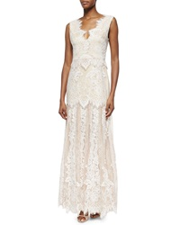 Erin Fetherston Joanna Cap Sleeve Lace Mermaid Gown
