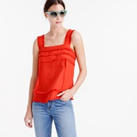 J.Crew Linen Tank Top With Fringe