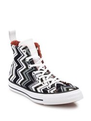 Converse Chuck Taylor Missoni Chevron Print High Top Sneakers Multiegret Black
