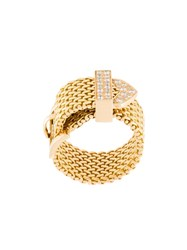 Aurelie Bidermann 'Polonaise' Couture Diamond Ring Metallic