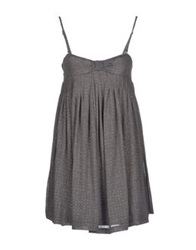 Scee By Twin Set Short Dresses Grey