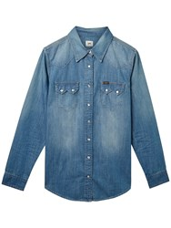 Lee Regular Western Denim Shirt Blue Record
