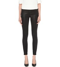 Ted Baker Wax Finish Skinny Mid Rise Jeans Black
