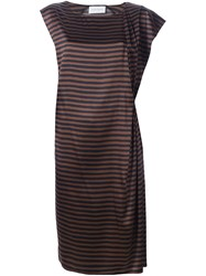 Christian Wijnants 'Davisa' Striped Dress Brown