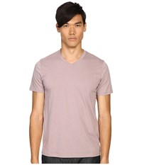 Vince Pima Short Sleeve Classic V Neck Dusk Sky Men's Clothing Pink