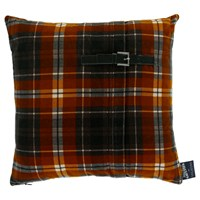 Jean Paul Gaultier Tartan Twiggy Cushion Gold