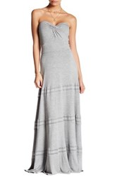 Felicity And Coco Sweetheart Strapless Maxi Dress Gray