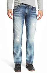 Rock Revival 'Noel' Straight Leg Jeans Acid Blue
