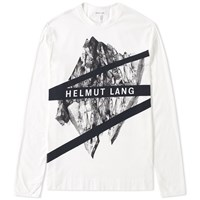 Helmut Lang Long Sleeve Glacial Print Tee White