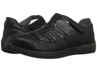 Drew Shoe Ginger Dusty Black Leather Women's Hook And Loop Shoes