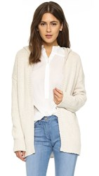 Nili Lotan Hooded Cardigan Natural