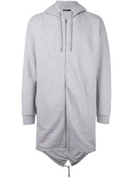 Alexander Wang T By Oversized Hoodie Grey