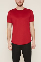 Forever 21 Athletic Mesh Tee Red