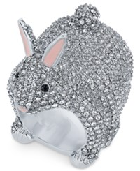 Kate Spade New York Silver Tone Crystal Bunny Ring
