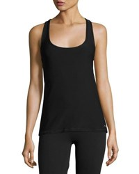 X By Gottex Back Zip Cutout Tank Black Gold